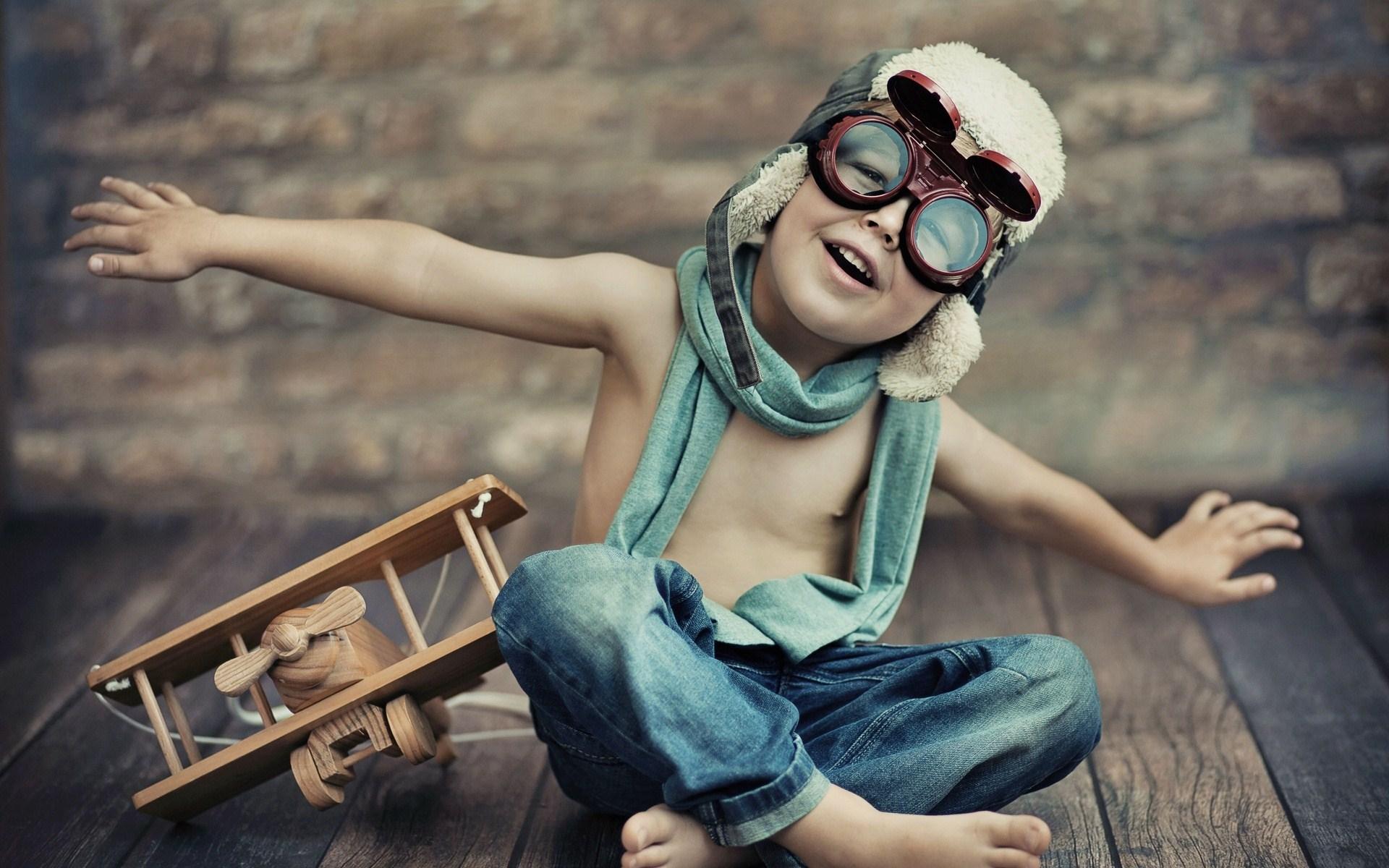child-wooden-airplane-aviator-wide-hd-wallpaper